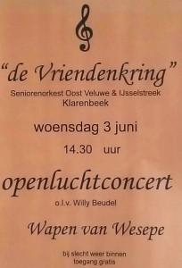 """Concert """"De Vriendenkring"""" in Wesepe, 3 juni 2015"""